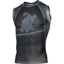 Компресійна футболка Title MMA Edurance TMMRGV4 чорно-сірий