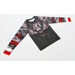 Рашгард с длинным рукавом Venum Wolf (CO-8129, черно-белый-красный)
