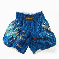 Шорти для тайського боксу та кікбоксингу Hayabusa Falcon (VL-0237, синій)