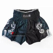 Шорты для тайского бокса и кикбоксинга Hayabusa Wisdom (VL-0239, зелено-черный)
