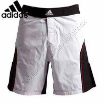 Шорты Adidas для смешанных единоборств ММА (ADICSS53, бело-черные)