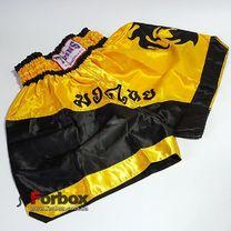 Шорты для тайского бокса Twins (ZB-6138, желтый)
