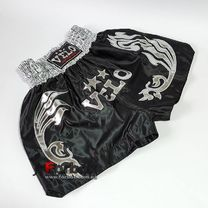 Шорты для тайского бокса VELO (ULI-9200, черно-белые)