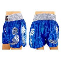 Шорти для тайського боксу VELO (ULI-9200-B, синьо-білі)