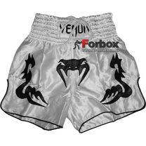 Шорти для тайського боксу Venum Inferno (CO-5807-W, білі з чорним)