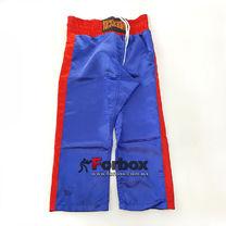 Штани для кікбоксингу дитячі Kickboxing Matsa (MA-6733, синьо-червоний)