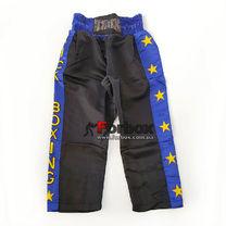 Штани для кікбоксингу дитячі Kickboxing Matsa (MA-6734, чорно-сині)