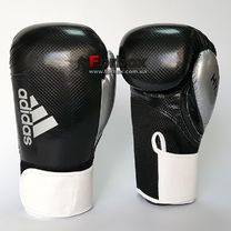 Боксерские перчатки Adidas HYBRID 65 (ADIH65-BKWH, Черно-белый)