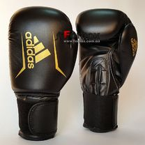 Боксерские перчатки Adidas SPEED 50 (ADISBG50-BKGD, Черно-золотой)