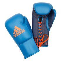 Профессиональные перчатки Glory Adidas на шнурках (ADIBCM06, синие)