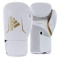 Боксерские перчатки Adidas SPEED 100 (ADISBG100-WHGD, Бело-золотой)