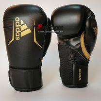 Боксерские перчатки Adidas SPEED 100 (ADISBG100-BKGD, Черно-золотой)