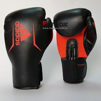 Боксерские перчатки Adidas SPEED 75 (ADISBG75-BKRD, Черно-красный)