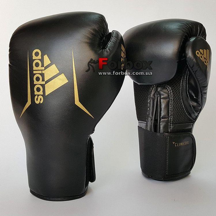 8752bcd022bc Боксерські рукавички Adidas SPEED 75 (ADISBG75-BKGD, Чорно-золотий ...