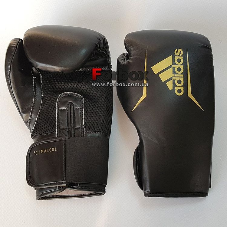3dac2b3354ce Боксерські рукавички Adidas SPEED 75 (ADISBG75-BKGD, Чорно-золотий) ...