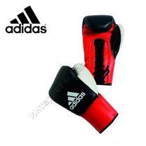 Перчатки для профессионального бокса Adidas Dynamic Profi на шнурках (ADIBC10, черные)