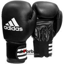 Боксерські рукавиці Adidas Performer 2 шкіра (ADIBC031, чорні)