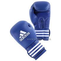 Перчатки для бокса Adidas Ultima2 кожаные (ADIBC02, синие)