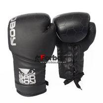 Перчатки боксерские Bad Boy Legacy 2.0 натуральная кожа на шнуровке (VL-6619-BK, черный)