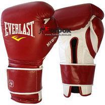 Боксерские перчатки Everlast MX Training gloves из натуральной кожи (2200000, красно-белые)