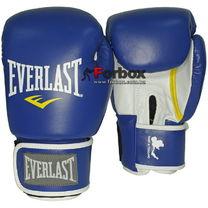 Перчатки боксерские Everlast Muay Thai Pro натуральная кожа (811206, сине-белые)