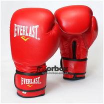 Рукавиці боксерські Everlast Ring Star натуральна шкіра (BO-4748, червоні)