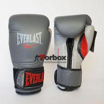 Боксерские перчатки Everlast PowerLock (EPLBG, серый)