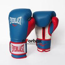 Боксерські рукавички Everlast PowerLock з PU (P00000728, червоно-синій)