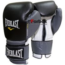 Боксерские перчатки Everlast PowerLock (EPLBG, черно-серые)