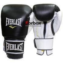 Боксерские перчатки Everlast PowerLock (EPLBG, черно-белые)