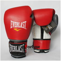 Боксерські рукавиці Everlast PowerLock (EPLBG, червоно-сірі)