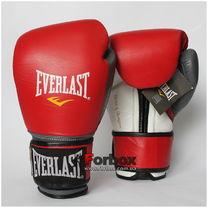 Боксерские перчатки Everlast PowerLock (EPLBG, красно-серые)