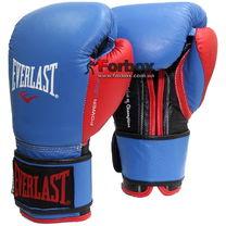 Боксерські рукавиці Everlast PowerLock (EPLBG, синьо-червоний)
