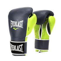 Боксерские перчатки Everlast PowerLock (EPLBG, темно-синие с зеленым)