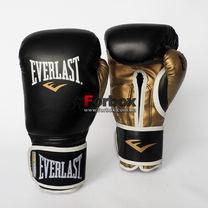 Боксерские перчатки Everlast PowerLock из PU (P00000723, черно-золотой)