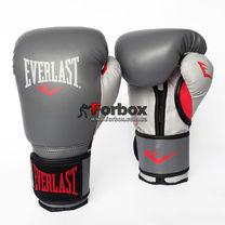 Боксерські рукавички Everlast PowerLock з PU (P00000731, сірий)
