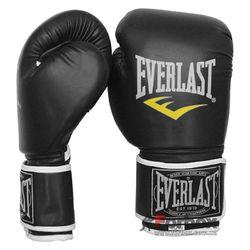 Боксерські рукавиці Everlast на основі PU шкіри (BO-3987, чорні)