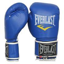 Боксерские перчатки Everlast на основе PU кожи (BO-3987, синие)