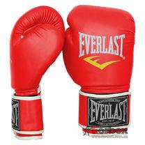 Боксерские перчатки Everlast на основе PU кожи (BO-3987, красные)