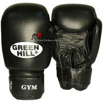 Боксерские перчатки Green Hill GYM кожаные (BGG-2018, черные)