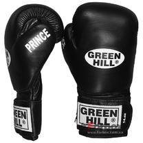 Боксерские перчатки Green Hill Prince кожаные (BGP-2028, черные)