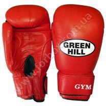 Боксерские перчатки Green Hill GYM кожаные (BGG-2018, красные)