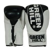 Боксерские перчатки Green Hill Bridg на шнурках (BGB-3015, черно-белые)