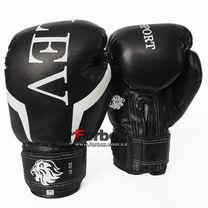 Боксерские перчатки Lev кожзам (1301-bk, черные)