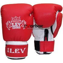 Боксерські рукавиці Lev шкірзам (1301-rd, червоні)