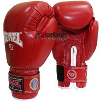 Боксерские перчатки ФБУ REYVEL одноцветные (1161-rd, красные)