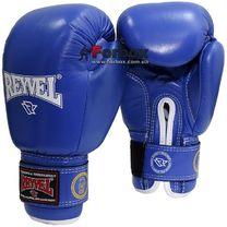 Боксерские перчатки ФБУ REYVEL одноцветные (1161-bl, синие)