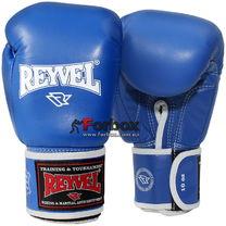 Боксерские перчатки REYVEL кожа (0009-bl, синие)