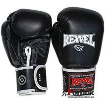 Боксерские перчатки REYVEL кожа (0009-bk, черные)
