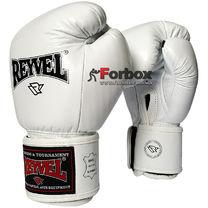 Боксерские перчатки REYVEL кожа (0009-wh, белые)